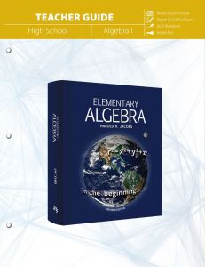 Elementary Algebra (Teacher Guide - Download)