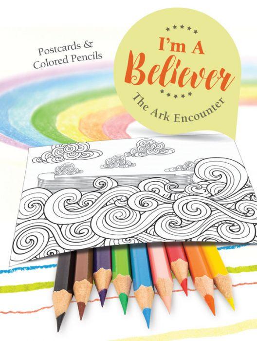 I'm A Believer: Postcards & Colored Pencils