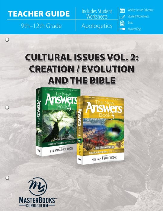 Cultural Issues Vol. 2: Creation & the Bible (Teacher Guide - Download)