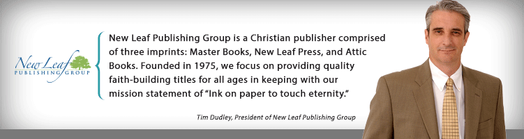 New Leaf Publishing Group is a Christian publisher comprised of three imprints: Master Books, New Leaf Press, and Attic Books. Founded in 1975, we focus on providing quality faith-building titles for all ages in keeping with our mission statement of 'Ink on paper to touch eternity'.